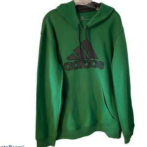 Adidas Men's Green Hoodie Sz XL